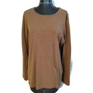 Pendleton brown Long Sleeved T Shirt Top Size 1x